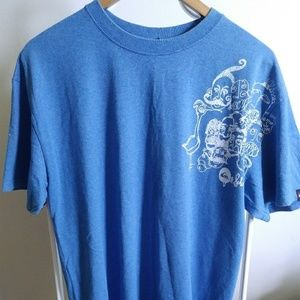 QUIKSILVER boarding Graphic tee blue size L